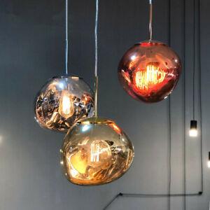 Artistic Colourful Glass Lava Stone Shade LED Ceiling Pendant Lights 20/30/40CM