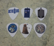 Dr Who  SINGLE SIDED PICTURE GUITAR PICKS  Set of 6