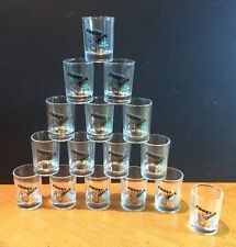 16 x FROST BITE Mint Schnapps SHOT GLASSES Boxed SET Glass