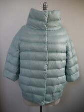 NEW MADE FOR LOVING light blue quilted down jacket puffer coat size M