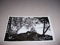 1930s VIEW of PLATTE LAKE near BEULAH MICHIGAN REAL-PHOTO RPPC POSTCARD