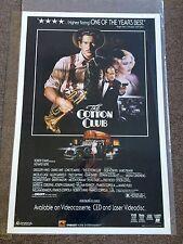 The Cotton Club 1984 Francis Ford Coppola Richard Gere Original Movie Poster
