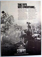 New listing Tchaikovsky 1971 Poster Ad 1812 Overture philadelphia orchestra