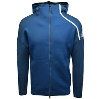 Adidas Men's Blue/Cyan Z.N.E Primeknit Full-Zip Hoodie (Retail $200)
