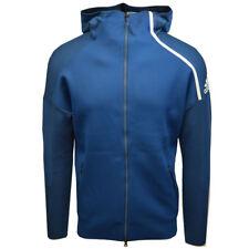 Adidas Men's Blue/Cyan Z.N.E Primeknit Full-Zip Hoodie (Retail $200)