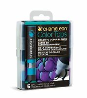 Chameleon Color Tops 5 Pen Set Alcohol Blending Gradient - Cool Colour Tones
