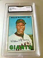 WILLIE MCCOVEY (HOF) 1967 Topps #480 GMA Graded Authentic