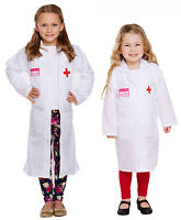 Kids Doctor Dressing Up Outfit Lab Coat Girls Fancy Dress Costume Ages 3-9 Years