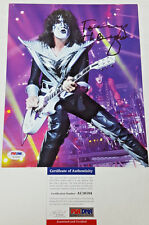 KISS TOMMY THAYER SIGNED 8x10 COLOR PHOTO PSA/DNA #AC16184
