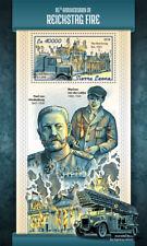 Sierra Leone 2018 MNH Reichstag Fire Engines Paul von Hindenburg 1v S/S Stamps
