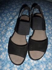 GABOR suede SANDALS black   shoes