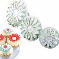 Decorating Tools Fondant Sunflower Mould Cookie Cutter Plunger Daisy Cake Mold