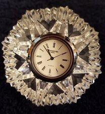 Waterford Crystal Quartz Clock- Gorgeous Diamond and Star Pattern!
