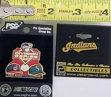 Set Of 2 CLEVELAND INDIANS Chief Wahoo SEATTLE MARINERS 2001 Playoffs Lapel Pins