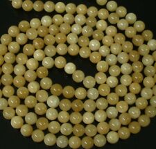 48inch Chinese Tibet Light Yellow Jade Gemstone Beads Long Necklace Gift