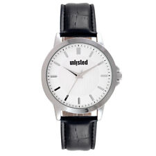 Kenneth Cole Unlisted Mens Black Leather Watch UL2043