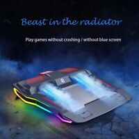 2021 Brand New RGB Gaming Laptop Cooler Adjustable stand Cooling Pad 12-17 inch