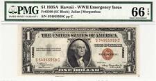 Fr. 2300 1935A $1 Silver HAWAII EMERGENCY ISSUE-PMG 66EPQ GEM UNC.- STUNNING!