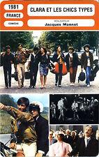 Fiche Cinéma. Movie Card. Clara et les chics types (France) 1981 Jacques Monnet