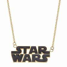STAR WARS gold tone Stainless Steel Logo pendant Necklace NEW $75