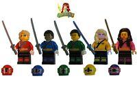 Custom LEGO minifigure Power Rangers Samurai 5 Colors UV Print