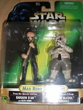 Star wars (potf) max rebo band paires-cardées figures 1998