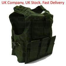Green Tactical Vest for Airsoft Paintball / Molle Compatible with Mag Pouches