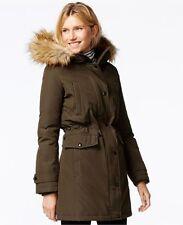 Michael Kors Faux Fur Hood Down Anorak Coat
