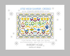 LITTLE WELSH COUNTED CROSS STITCH KIT SAMPLER KIT 'CROESO' (WELCOME)