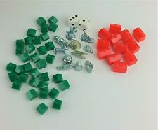 Monopoly Board Game Replacement Pieces Houses Hotels & Player Tokens