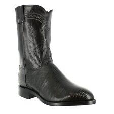 Justin L3112 Women's Iguana Lizard Exotic Roper Cowgirl Boots (Black) size 8.5B