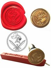 Wax Stamp, KNIGHTS HELMET & SWORD Coin Seal and Red Wax Stick XWSC216-KIT