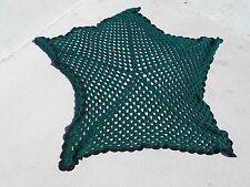 Hand-Made Knit Crochet Star Pattern Throw Lap Blanket 6346