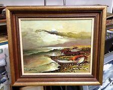 Vintage Italian Port Impressionist Landscape Signed Well Framed Lovely Piece