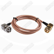 6Ft SMA Male RA to BNC Male Right Angle Adapter RF Pigtail Coaxial Cable RG400