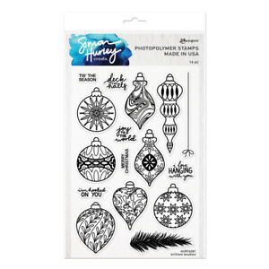 Ranger Ink Simon Hurley Clear Photopolymer Stamps Brilliant Baubles hur74281
