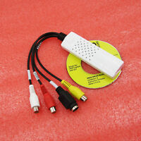 USB 2.0 Video Audio VHS RCA to DVD Converter Capture Card Adapter Win 10 8 7 XP