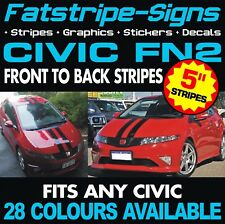 HONDA CIVIC FN2 STRIPES GRAPHICS DECALS STICKERS CAR VINYL TYPE R S VTEC MUGEN