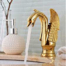 Retro bad Schwan Armatur Waschbecken Waschtisch Einhebelmischer Wasserhahn Gold