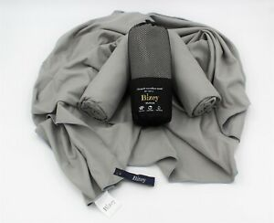 Microfibre Towel Large Grey Sports Beach Yoga Swimming Bath Gym. 80cm x 160cm.
