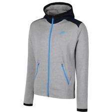 Nike Hybrid Pantaloni Tuta in pile Grey/blue Large (q7t)