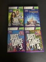 Lot Of 4 Xbox 360 Kinect: Just Dance 3 And 4, Disneyland, And Biggest Loser