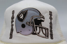 Oakland Raiders Vintage NFL Adjust-A-Size Snapback Cap Hat Helmet Logo