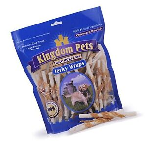 Kingdom Pets Filler Free Chicken Jerky & Rawhide Wraps, Premium Treats for Dogs