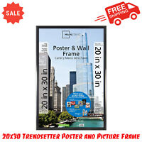 20x30 Trendsetter Poster and Picture Frame, Matte Black, Home Wall Decor