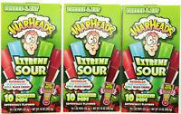 WARHEADS Extreme Sour Freezer Pops 10 freeze pops ~ Lot of 3