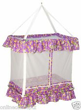JACK & JILL Baby Hanging Cradle Swing Jhula  Mosquito Net Bedding set