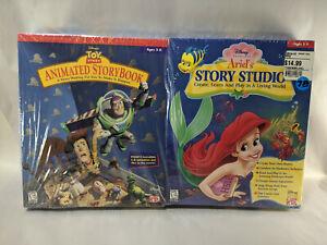 PC Disney's Toy Story Animated Storybook & Ariel's Story studio Sealed Big Box