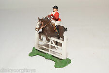 BRITAINS DEETAIL JOCKEY ON JUMPING BROWN HORSE EXCELLENT CONDITION