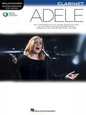 Adele Clarinet Instrumental Play-Along Book and Audio New 000159651